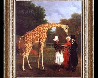 Giraffe Miniature Dollhouse Art Picture 6524
