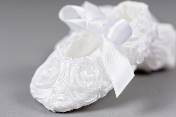 Baby shoes white flower girl toddler girls shoes white baptism