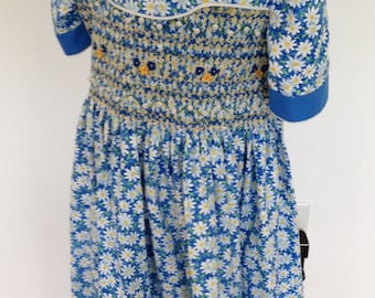 Girl's Hand Smocked & Embroidered Special Occasion Dress with Jacket - Daisy