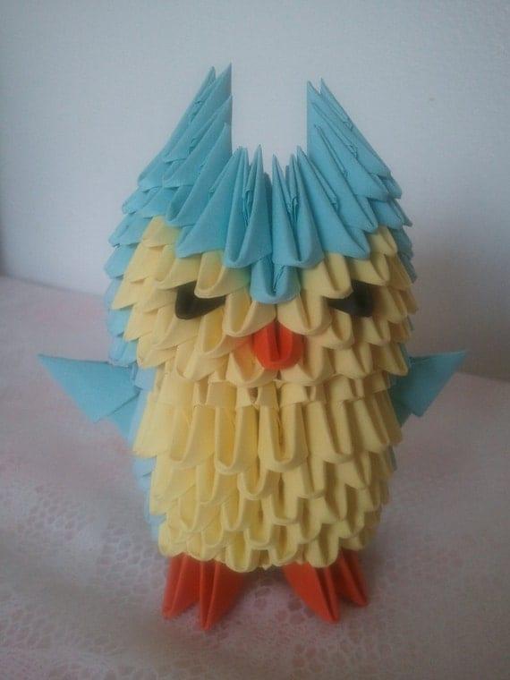 3d origami little owl - photo#6