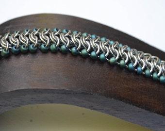 Stainless Steel Vertebrae Chainmaille Bracelet