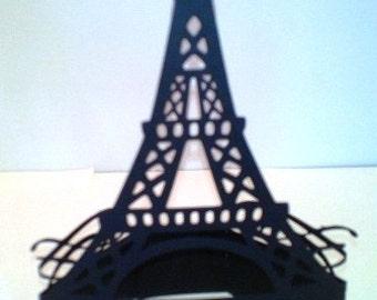 DIY Eiffel Tower cake topper/ centerpiece