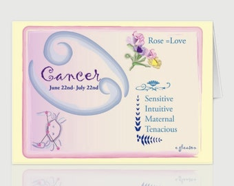 Cancer June Greeting Card