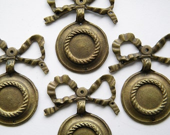 4 vintage french decorations ribbon detail'''