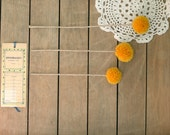 12 Pom Pom Flowers in Mustard Yellow / Craspedia / Handmade Party Decor / Billy Balls