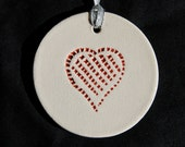 CLEARANCE SALE Red Heart Christmas Ornament