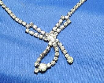 Rhinestone Vintage Necklace Wedding Bridal Vintage Jewelry