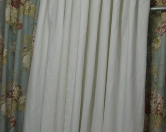 Pleated Linen Drapery Panels- 2 Single Width Panels with Your Pleat Style Choice
