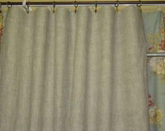 One Pair-Linen Tailored Panels-Lined Linen Tailored Drapes-Blackout Inner Lining-Blackout Curtains-Nursery Window Treatments-Linen Curtains