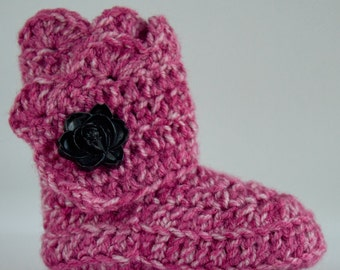 Rose Infant Crochet Scallop Wrap Boots- Choose Your Size