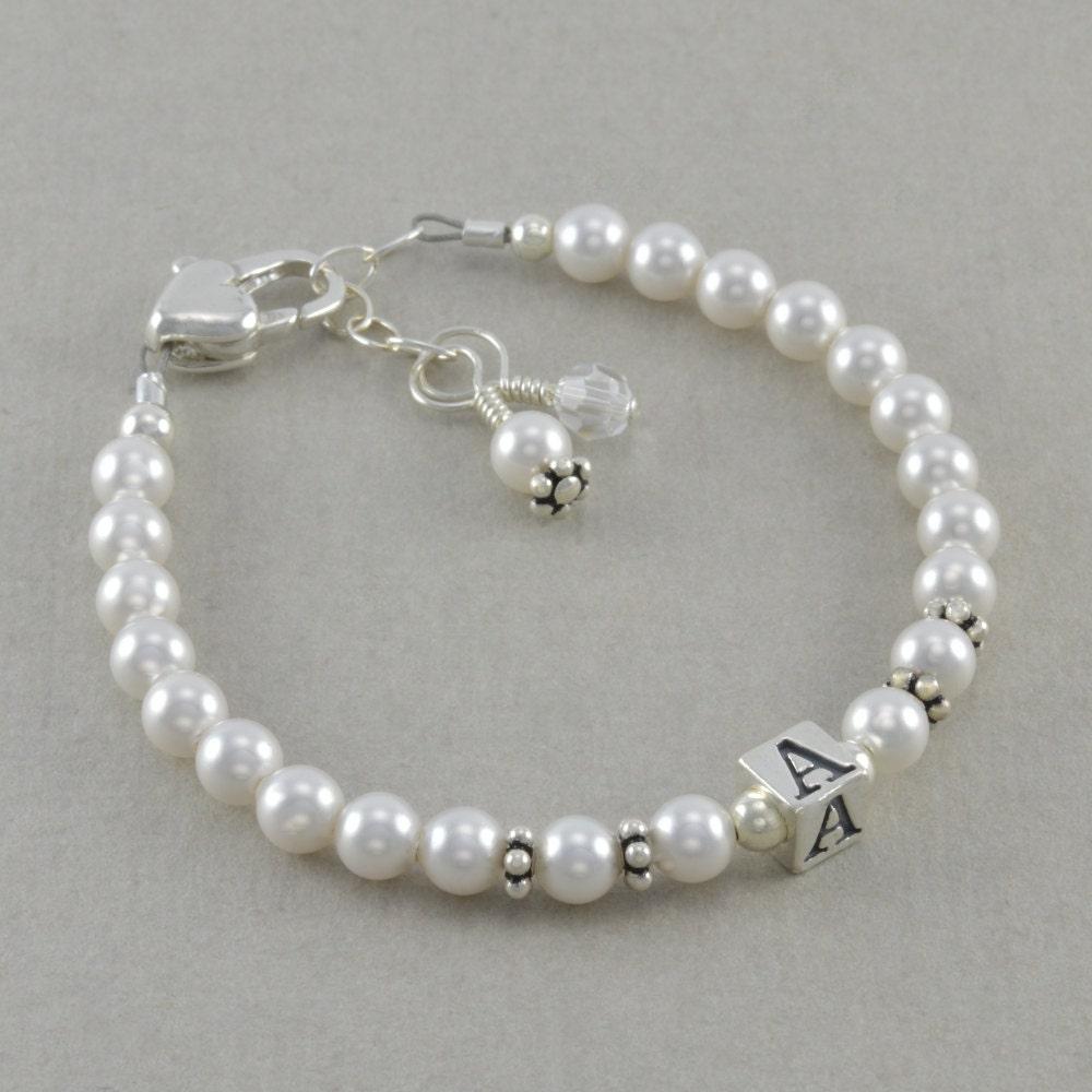 Baby Girl Gift Childs Bracelet Sterling Silver 1st