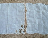 2 White Vintage Hankies Delicate Embroidery and Cutwork