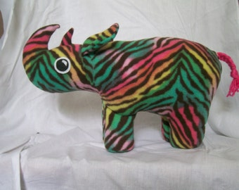 Customizable Rhinoceros Plush - choose your own colors and patterns
