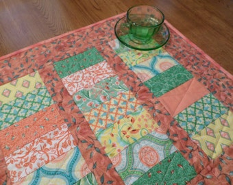 Pretty in Peach Quilted Table Runner