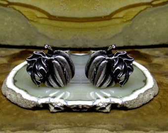 Pumpkin Cufflinks Sterling Silver Free Shipping