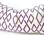 Purple Pillow, Purple Lumbar Pillow, Purple Cushion, Purple Velvet, Cotton Canvas, Bohemian Pillow Cover, boho room decor, boho apartment