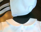 Boys Christening Hat to Match Christening Romper or Bubble