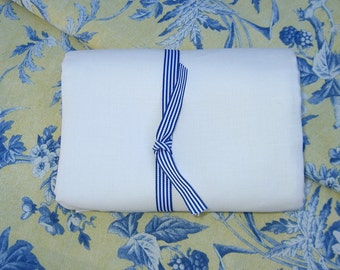 Pure White LINEN ecofriendly fabric sewing home decor crafts sewing supplies from MyGypsyCottage on Etsy