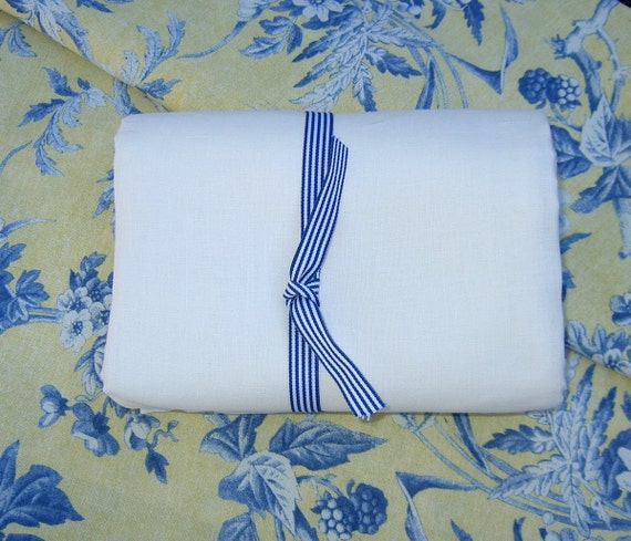Pure White Linen Ecofriendly Fabric Sewing Home Decor Crafts Sewing Supplies From Mygypsycottage