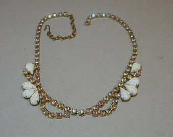 Vintage Frosted Drop Necklace