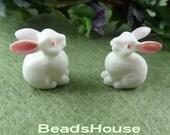 10pcs  Cute Rabbits,19 x 19mm