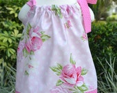 Toddler Easter Dress, Pink Pillowcase Dress, EASTER outfit for baby, spring dress - spring outfit - Baby girl dress - vintage roses