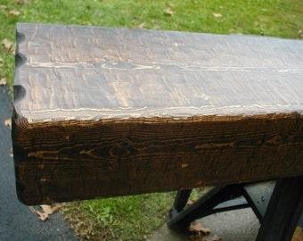 "60""  Custom Hand Hewn Rustic Fireplace Mantel"