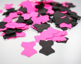 200 pieces Bachelorette Lingerie Die Cut Confetti Table Decor  pink and black
