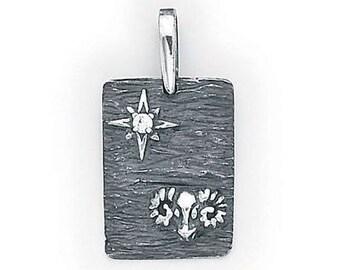 Aries Zodiac  Pendant  Sterling Silver  505-1