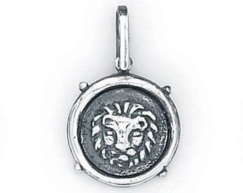 Leo Zodiac Pendant in Sterling Silver 504-17