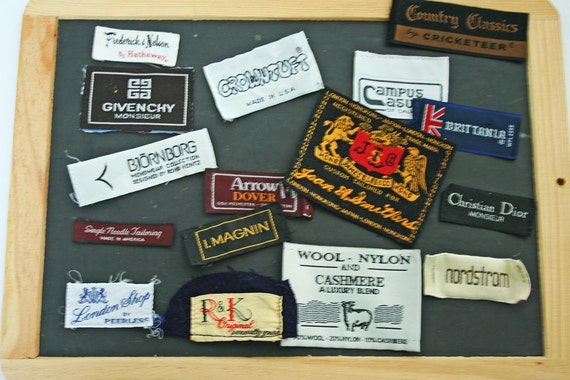 vintage sewing labels designer clothing tags sewing