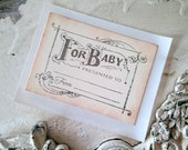 Baby Bookplate, Baby Library, Baby Shower Label,  Handmade Sticker, Set of 3
