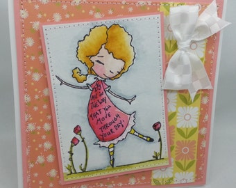 Dance - Blank NoteCard, Greetings Card, Handmade Card