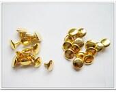 90 sets golden 8mm Rivets purse making hardware