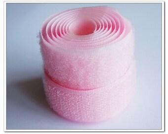 2 yards 20mm pink Sew on Velcro Hook & Loop Tapes
