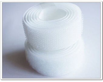 2 yards 20mm white Sew on Velcro Hook & Loop Tapes