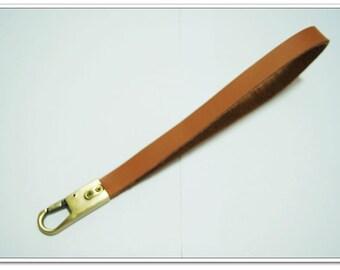Detachable cowhide Strap wristlet anti brass hardware