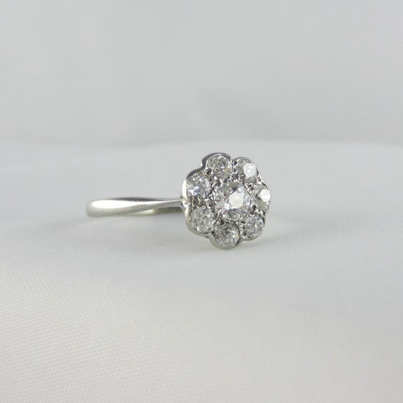 best rings vintage cut shape old floral flower ring emilynicoleswee wedding on diamond engagement carat pinterest in antique daisy images platinum european mine