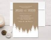 Kraft Winter Engagement Invitations - rockpaperdove