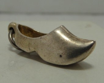 DUTCH CLOG SHOE Sterling Silver Charm or Pendant - Holland