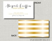 Calling Cards, Call Me Cards, Business Cards, Tags - Set of 100 - Foil Me Fabulous by Abigail Christine Design