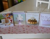 BAKING COOKBOOKS - Cakes Cupcakes Muffins - Dollhouse Miniature 1/12 Scale