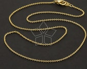 CH-109-GD / 10 Pcs - Ultra Fine Chain Necklace with Lobster Clasp (230s), Gold Plated over Brass / 18 inch