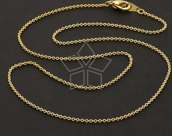 CH-093-GD / 10 Pcs - Ultra Fine Chain Necklace with Lobster Clasp (230s), Gold Plated over Brass / 16 inch