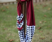 University of Alabama Roll Tide Gameday Braided Infinity Scarf Houndstooth & Crimson
