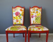Custom Chair for Rachel - Anna Maria Horner drawing room upholstery