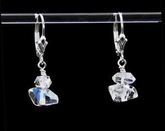 Herkimer Diamond earrings in Sterling Silver to Manifest Destiny