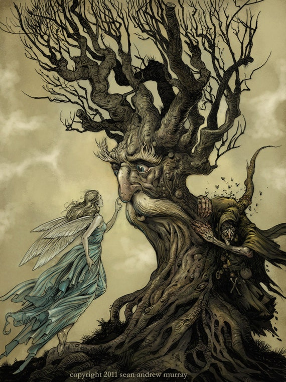 The Tree-Spirit - limited edition 13x19 archival quality digital print