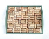 Green Sage Wine Cork Board repurposed from a wooden tray