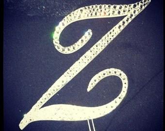 Letter Z  Swarovski Crystal Monogram Cake Topper